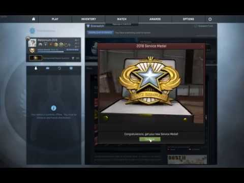 CSGO - Getting 2018 Service Medal
