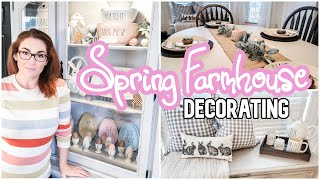 SPRING FARMHOUSE DECORATE WITH ME   SPRING DECOR IDEAS   Clean and Decorate With Me 2020