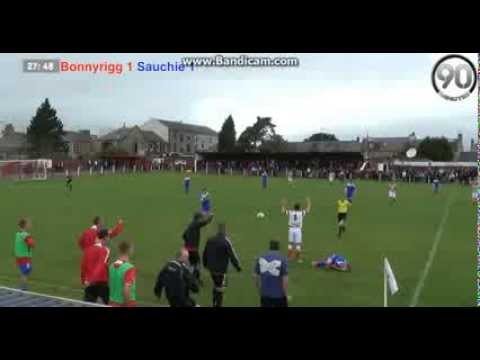 A horrific boot to the chest (scottish amateur football) - red card