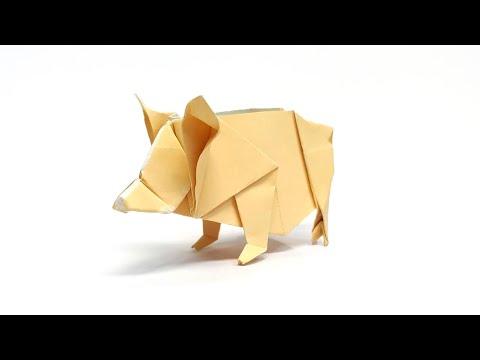 종이접기 돼지 Origami Pig (흰상어)