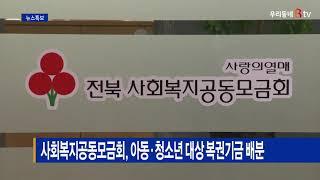 사회복지공동모금회, 아동·청소년 대상 복권기금 배분