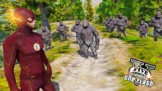 The Flash VS Gorilla Grodd ! The Gorilla City (GTA 5 Ultimate Flash Mod Gameplay)🏃🏽⚡️
