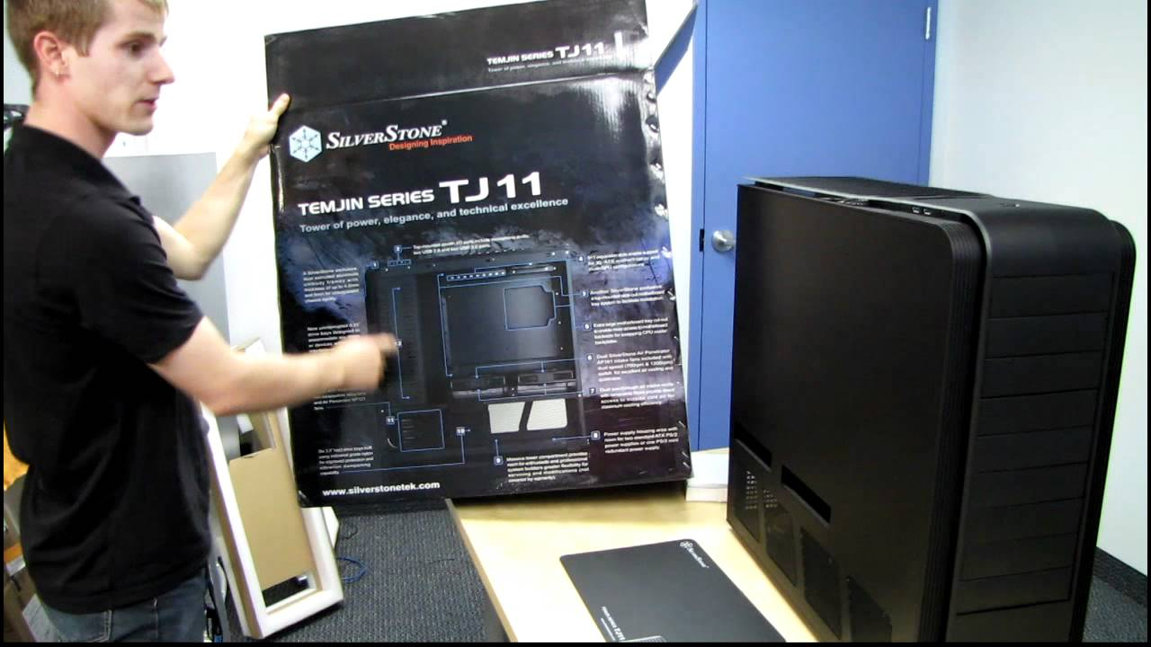 c13ea6ee2a Silverstone TJ11B-W Ultimate Computer Case Unboxing & First Look ...