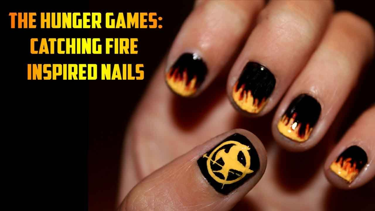 - The Hunger Games: Catching Fire Inspired Nail Art - YouTube