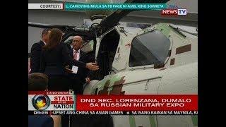 SONA: DND Sec. Lorenzana, dumalo sa Russian military expo