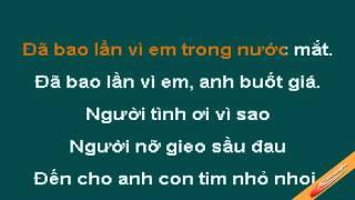 Chiếc Lá Mùa Đông Karaoke   Vân Quang Long   CaoCuongPro   YouTube