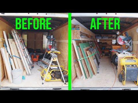 7x14 Contractor Trailer Mobile Shop Setup