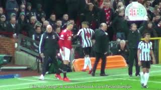 Fan Footage The Return of Zlatan Ibrahimović Manchester United 4 - Newcastle 1 18.11.17