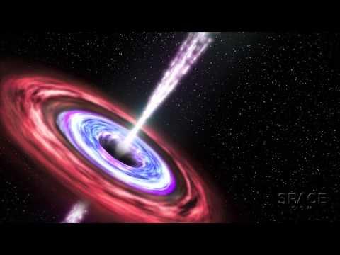 Bingeing Black Hole Belches Brightly