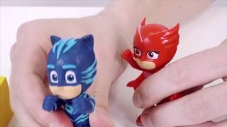 ДЯДЯ БУ и ГЕРОИ В МАСКАХ (PJ MASKS) против РОМЕО и его супер замедлителя Видео для детей