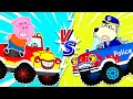 🔴 LIVE   Wolfoo Plays with Toy Monster Truck and Police Car