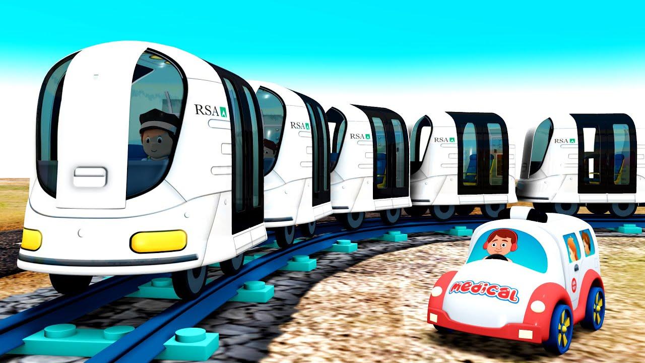 Let's Help - Krankenwagen Cartoon Spielzeugeisenbahn - Toy Factory Choo Choo train