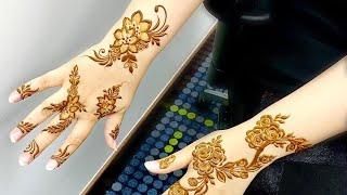 Beautiful mehndi design for back hand side | मेहंदी लगाने का आसान तरीका