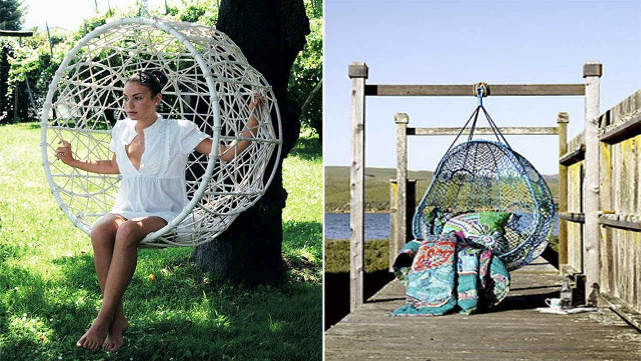 Outdoor Hanging Chair | Diy Hanging Egg Chair Ideas | Chairs Design  sc 1 st  YouTube & Outdoor Hanging Chair | Diy Hanging Egg Chair Ideas | Chairs Design ...