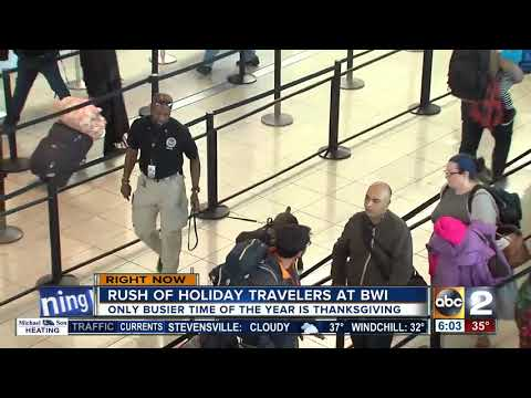 Holiday rush hits BWI Airport