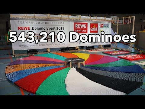 Thumbnail: 543,210 Dominoes - Dominoland - 3 Guinness World Records | 4K