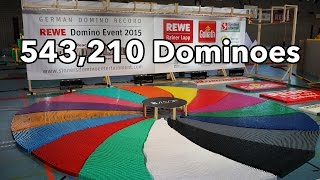 543,210 Dominoes - Dominoland - 3 Guinness World Records | 4K thumbnail