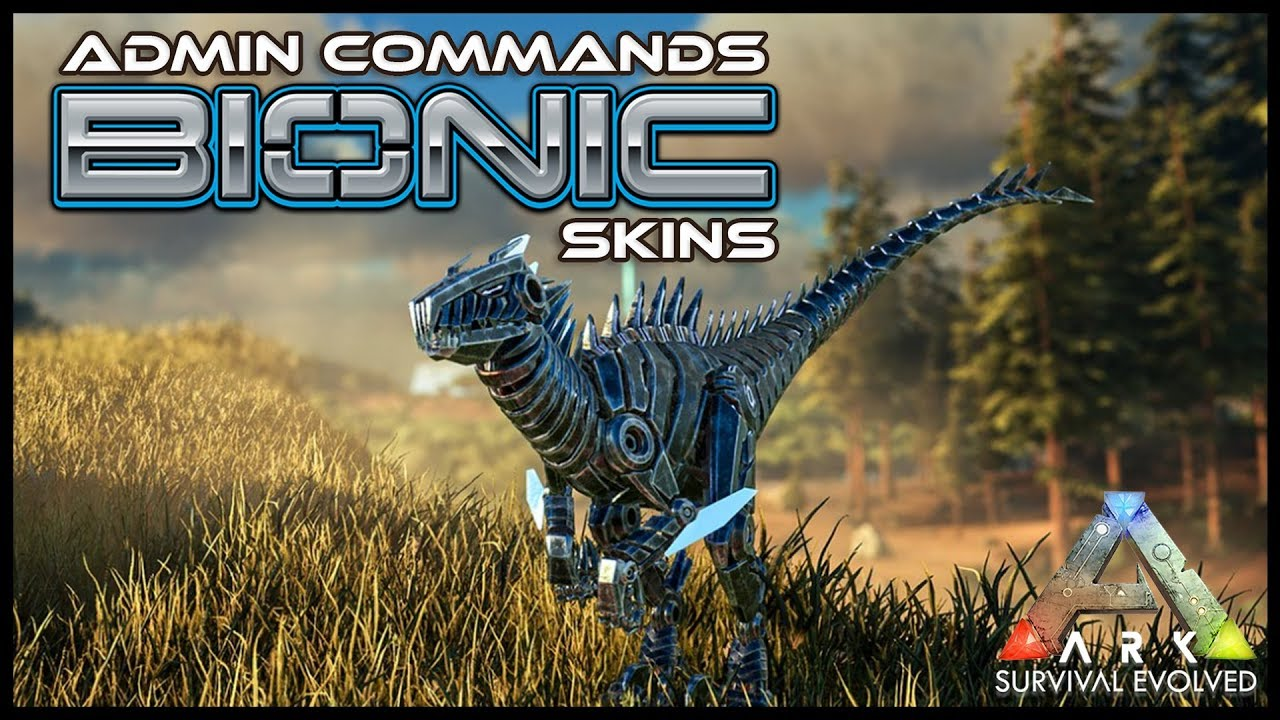 All bionic skin admin commands ark survival youtube all bionic skin admin commands ark survival malvernweather Images