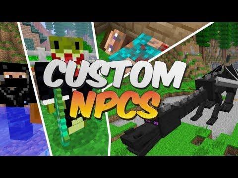 как сделать диалог, задание и труп в моде Custom Npcs