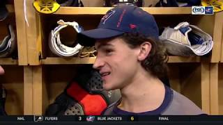 Sonny Milano is handling his playing time better this year than last | BLUE JACKETS-FLYERS POSTGAME