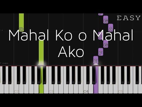 Mahal Ko O Mahal Ako - KZ Tandingan | EASY Piano Tutorial