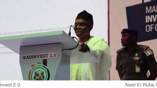 #KADInvest 2.0 Governor Nasir El-Rufai Speaks on the Progress of His Administration in Kaduna
