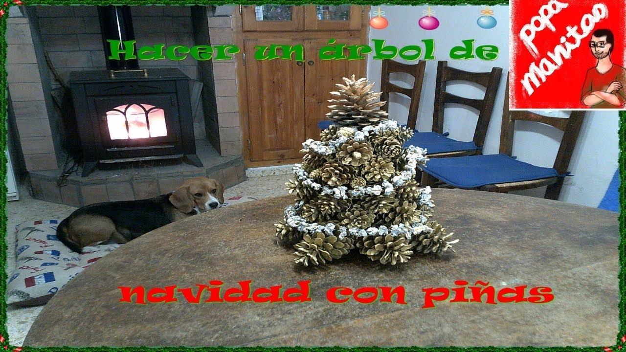Como hacer un rbol de navidad con pi as how to make a - Como hacer coronas de navidad ...