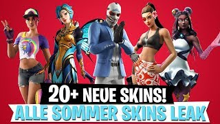 20+ NEW SKINS! All Summer Skins Leak | Fortnite Battle Royale