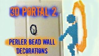 Gambar cover 3D Portal 2 Perler Bead Craft Wall Decorations Tutorial
