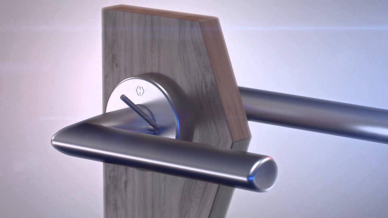 demontage von hoppe schnellstift garnituren de youtube. Black Bedroom Furniture Sets. Home Design Ideas