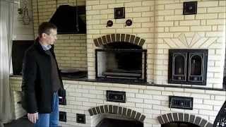 Барбекю комплекс  Мангал плита под казан, универсальная жаровня(Строительство барбекю из кирпича. Мангал, плита, хлебная камера., 2014-10-16T19:23:42.000Z)