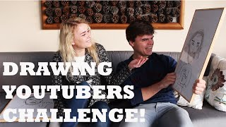 DRAWING YOUTUBERS CHALLENGE! W/Jelly