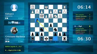 Chess Game Analysis: Kkhan1 - Cristiano Barbosa : 0-1 (By ChessFriends.com)