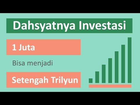 Dahsyatnya Hasil Investasi - Uang 1 Juta Menjadi Setengah Trilyun Rupiah