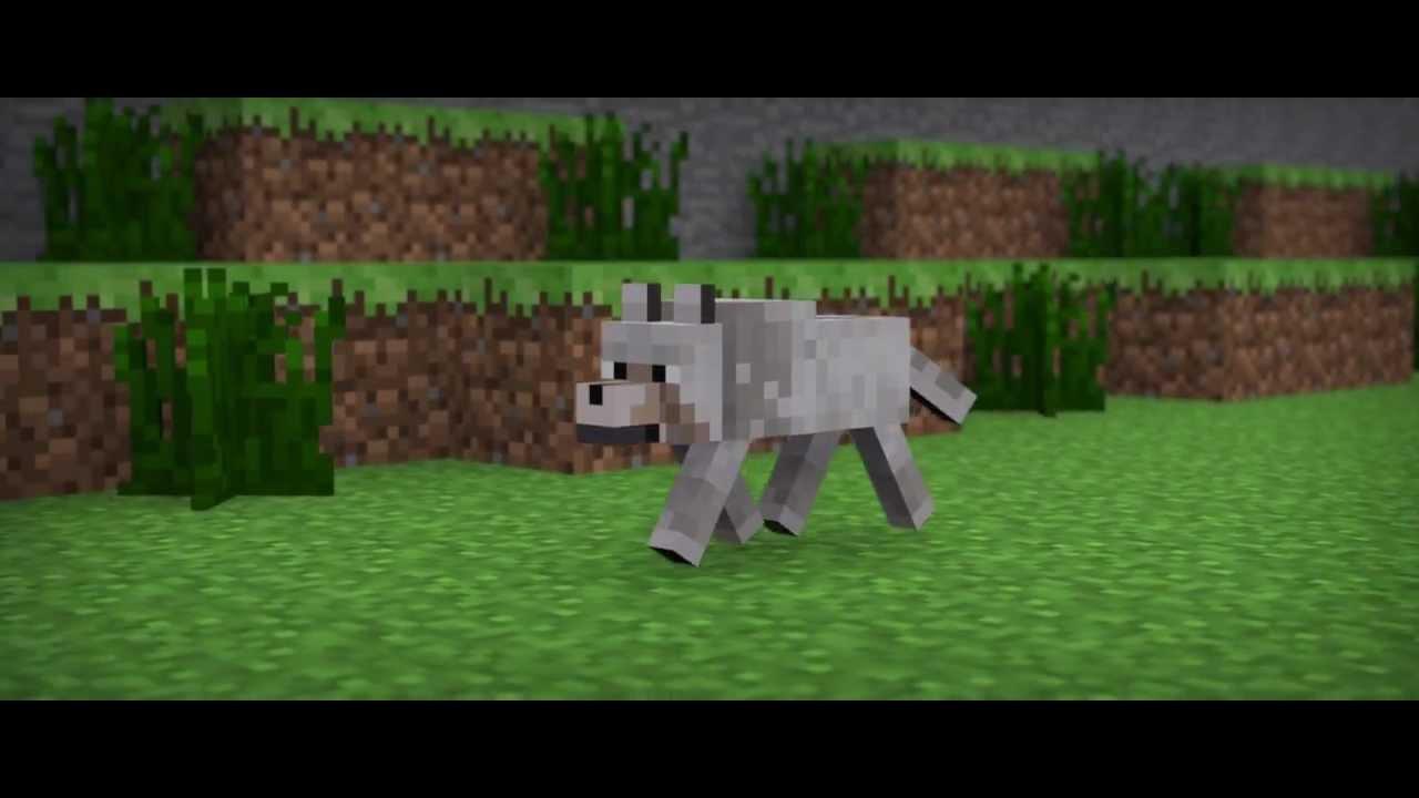 minecraft animation wolf walk youtube