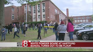 Flour at Hartford elementary school prompts response from emergency officials