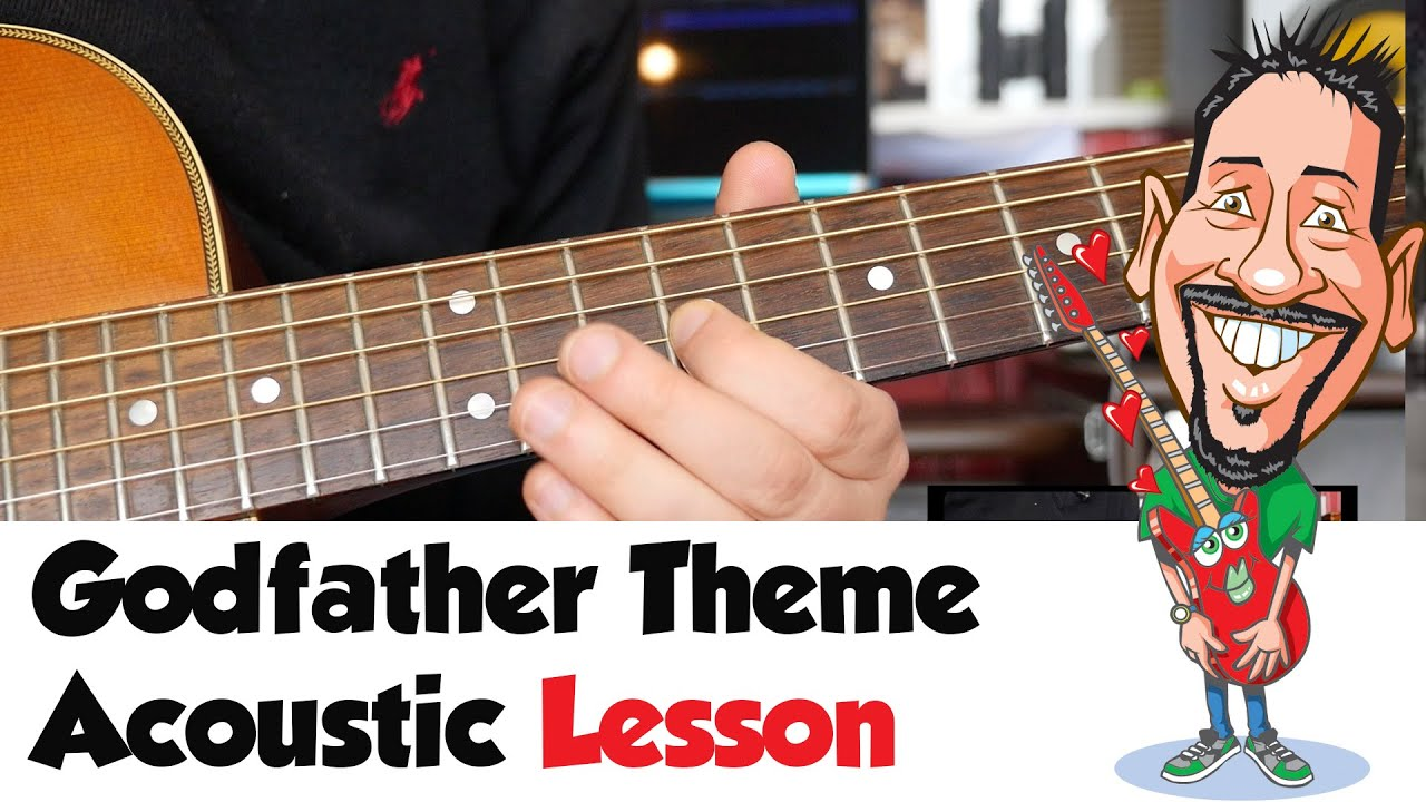 godfather theme acoustic guitar lesson youtube