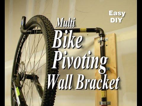 Easy DIY Multi Bike Pivoting Wall Bracket