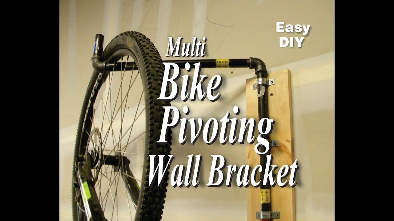 Easy Diy Multi Bike Pivoting Wall Bracket Youtube