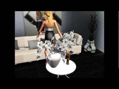 Modelo de salas blanco y negro primeraparte youtube for Sala de estar blanco y negro