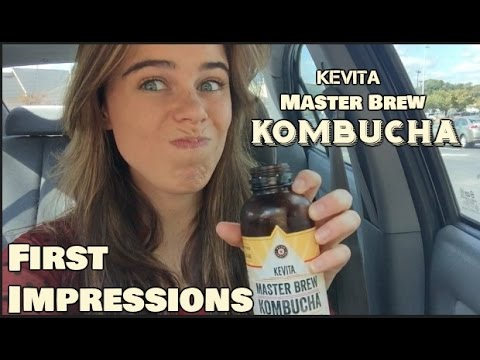 Trying Kombucha for the first time!