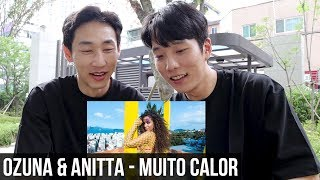 COREANOS REAGINDO Ozuna & Anitta - Muito Calor ( Video Oficial ) [REACTION] [REACT]