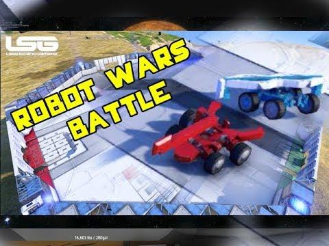 space engineers robot wars mini battle youtube