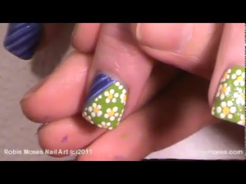 Easy Patchwork Nails Country Nail Art Design Tutorial Youtube