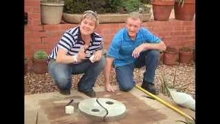 The Gardener Magazine: Making Ying-Yang Paving Stones