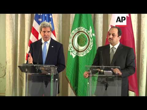 Joint news briefing with US Secretary of State Kerry and Qatari FM