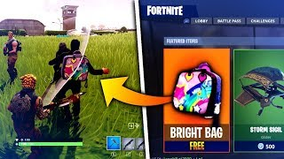 "How To Unlock *SECRET* ""Bright Bag"" in Fortnite Battle Royale! (Bright Bag Gameplay)"