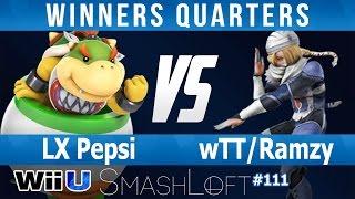 SL SSB4 #111 - LX Pepsi (Bowser Jr) vs wTT Ramzy (Sheik) - Winners Quarters