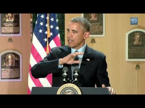 Obama at the Baseball Hall of Fame: Travel and Tourism in the U.S. (2014)