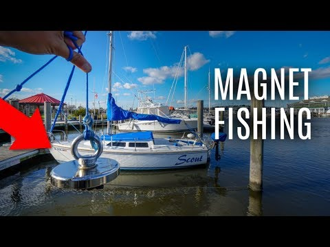 Magnet Fishing Yacht Docks for Lost Treasure!!
